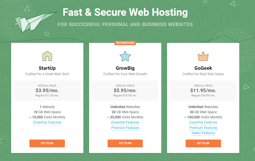 siteground hosting plans February 22, 2020